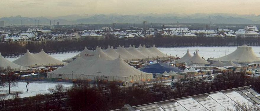 Winter Wonderland Munich with panoramic view of the Alps